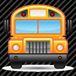 education, school bus, transportation icon