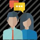 business meeting, chat conversation, communication, conversation, dialogue icon