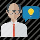 brainstorming, creative ideas, creative scientist, innovative ideas, thinking icon