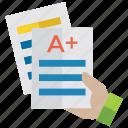 a+ grade, best result, high performance, progress, success icon