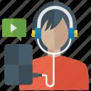 listening music, social listening, video clip, watching movie., watching video