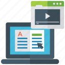 e.learning, educational video, learning with video, online learning, video tutorial icon