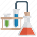 chemistry practical, lab apparatus, lab equipment, laboratory testing, practical education icon