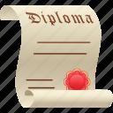 degree, diploma, education, graduate, graduation icon