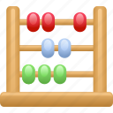 abacus, accounting, counting, education, math icon