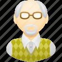 education, man, old man, pensioner, professor, teacher icon