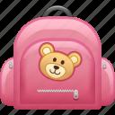 book bag, bookbag, education, school, school bag, schoolbag icon