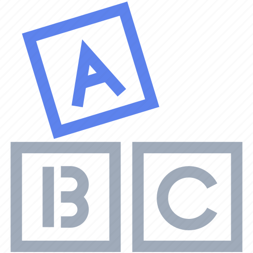 abc, alphabet, block, english, school icon