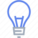 bulb, idea, light, thinking icon
