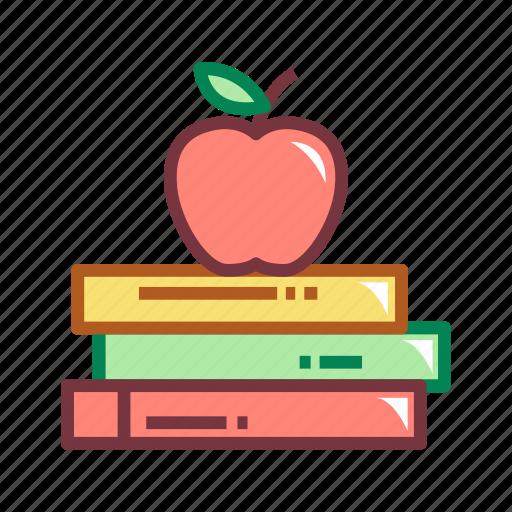 apple, book, books, education, knowledge icon