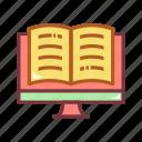 book, desktop, digital, digital book, education, learn, technology icon
