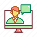course, digital, education, online, online course icon