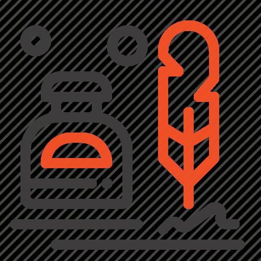 Erite, fur, ink, letter, office icon - Download on Iconfinder