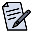 education, file, pen, pencil icon