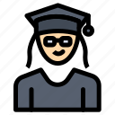 cap, education, graduation, woman