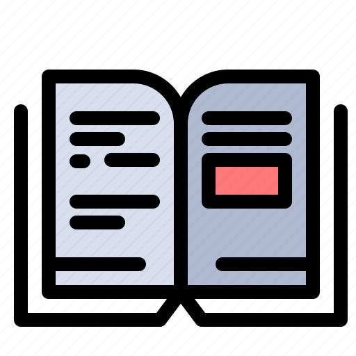 book, education, knowledge, text icon