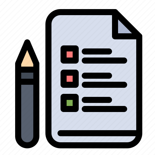 Education, file, pen, pencil icon - Download on Iconfinder