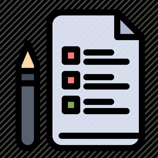 education, file, pen, pencil icon