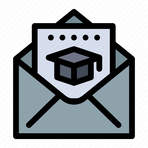Cap, education, graduation, mail icon - Download on Iconfinder