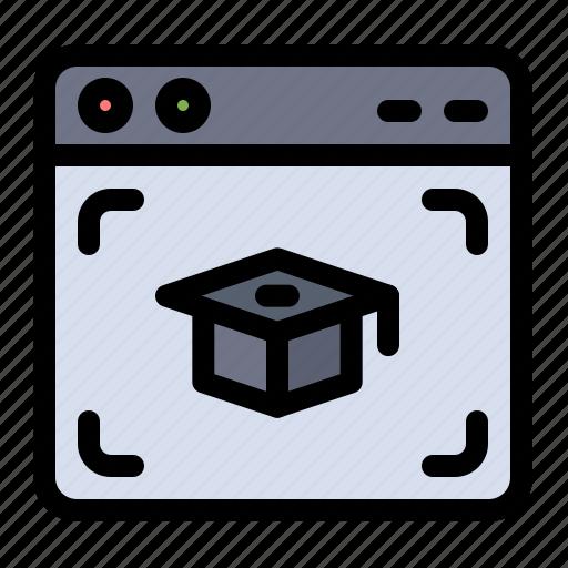 cap, education, graduation, web icon