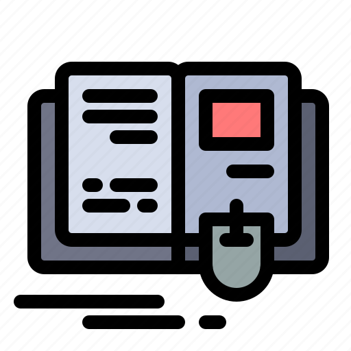 Book, education, knowledge, mouse icon - Download on Iconfinder