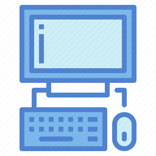 computer, keyboard, monitor, mouse, screen, technology icon