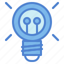 bulb, electricity, idea, invention, light icon