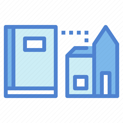 book, building, education, library, reading, study icon