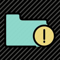 attantion, directory, document, folder icon
