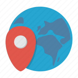 internet, map, marker, pin, travel, traveling, world icon