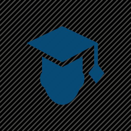 academic, baccalaureate, cap, college, education, expert, faculty, graduates, graduation, high school, internship, master, mba, university icon