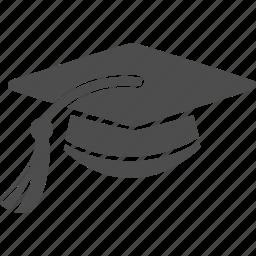 academic degree, congratulation, education, graduation, hat, school icon