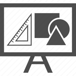 analytic, art, board, building, geometry, ruler, shape icon