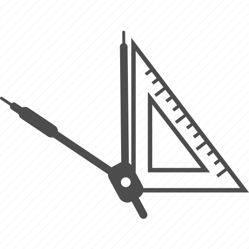 art, education, graphic, learning, math, study, triangle icon