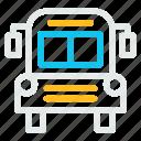 bus, education, learn, school, transport, transportation icon