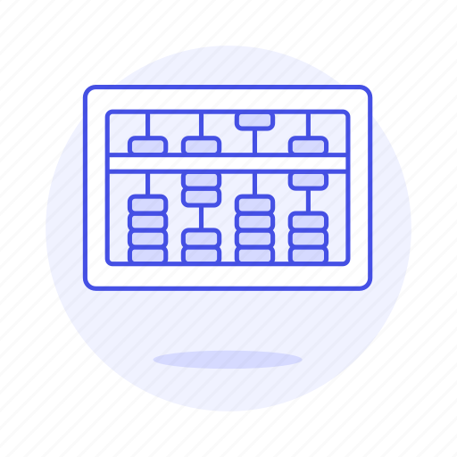 abacus, calculator, chinese, counting, education, learning, math, mathematic, school, science, tool icon