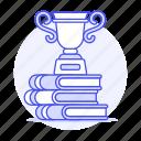 acheivement, rewards, education, award, achievement, winner, academic, decathlon, trophy, graduation, books
