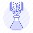 chemical, chemistry, education, erlenmeyer, experiment, flask, lab, learning, science, theory icon