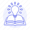 book, bulb, education, idea, information, inspiration, inspirational, knowledge, learning, light, open