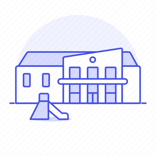 building, education, institution, instruction, kindergarden, kindergarten, playground, preschool, school icon