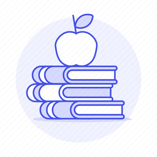 1, appetizer, apple, books, class, education, high, knowledge, learn, learning, school, study icon