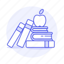 class, books, study, apple, learning, knowledge, high, learn, education, appetizer, school