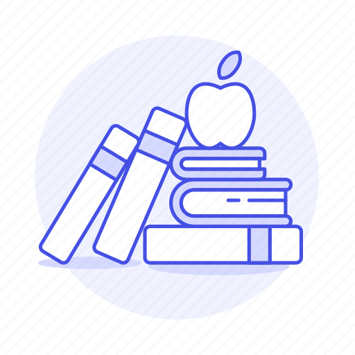 2, appetizer, apple, books, class, education, high, knowledge, learn, learning, school, study icon