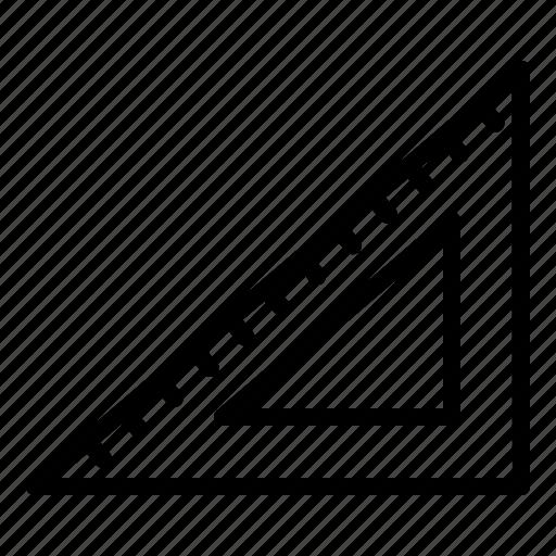 education, ruler, school, triangle icon