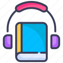 audio, audio course, audio lecture, audiobook, book, distance learning, elearning icon