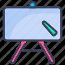blackboard, board, chalkboard, classroom, education, lecture, school icon