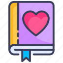 book, bookmark, favorite, heart, like, love