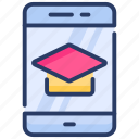 app, education, education mobile app, learning, mobile, mobile app, study icon