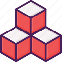 cube, dimension, geometry, prism, square icon