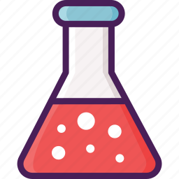flask, glass, laboratory, medicine icon